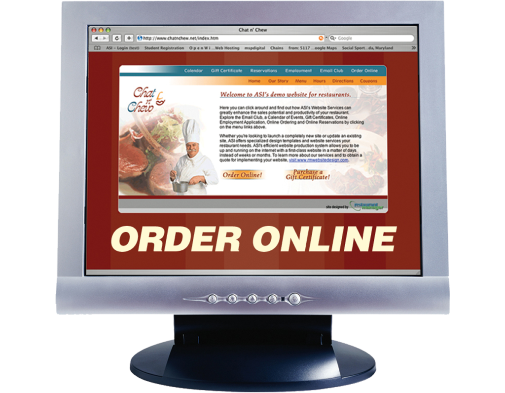 Online Ordering With Restaurant Manager ASI